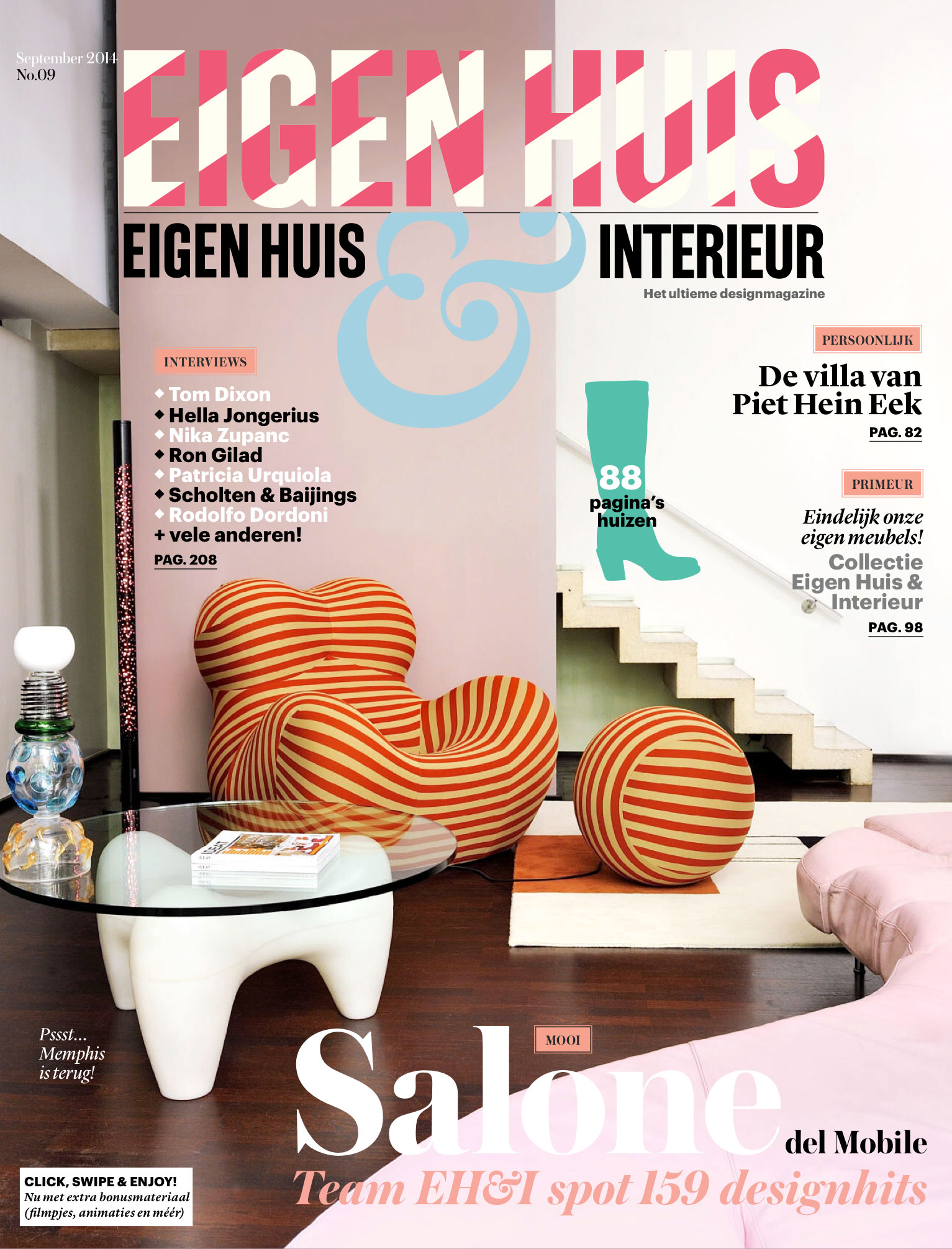 Eigen Huis & Interieur (Netherlands) September 2014 - FRAMES wall